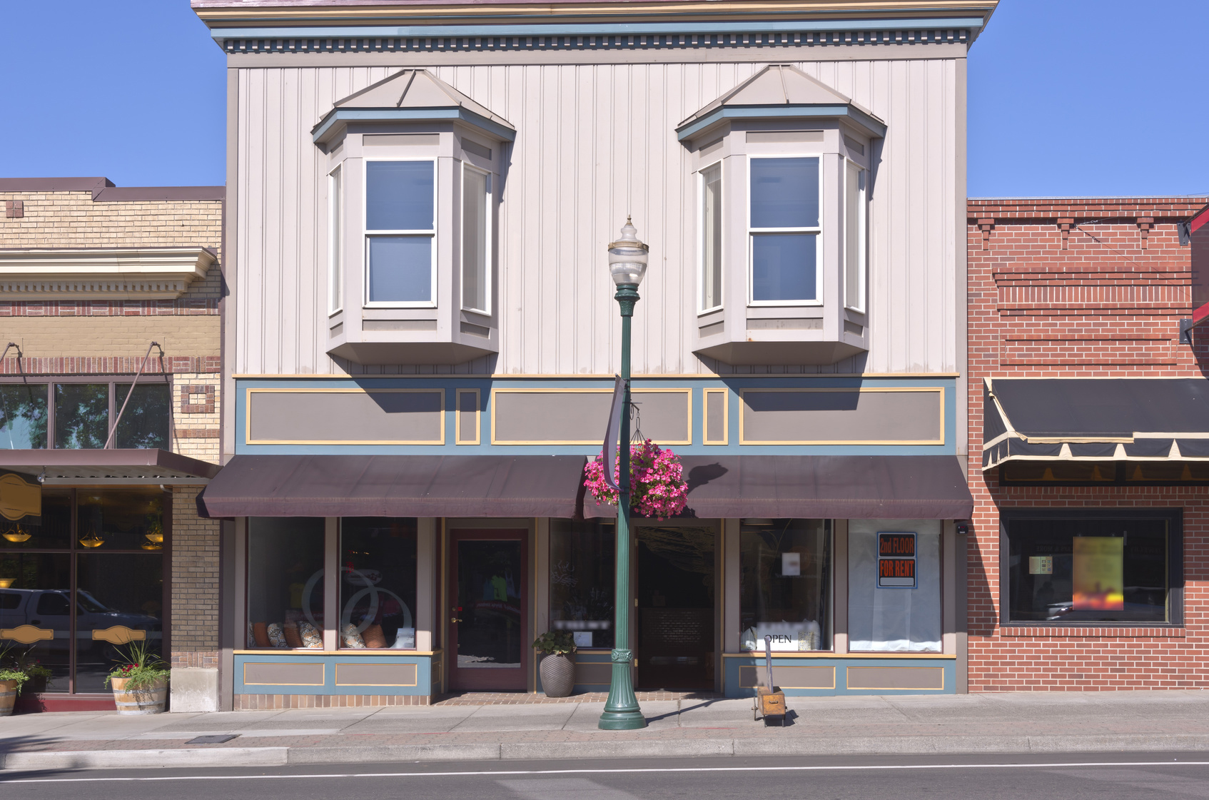 main street type of location with boutique storefront